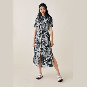 ZARA Printed Shirt Dress with Belt